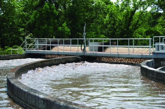 Fayetteville WWTP's split-level oxidation ditches