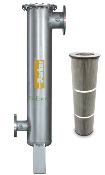 Biogas particulate prefilter and filter element