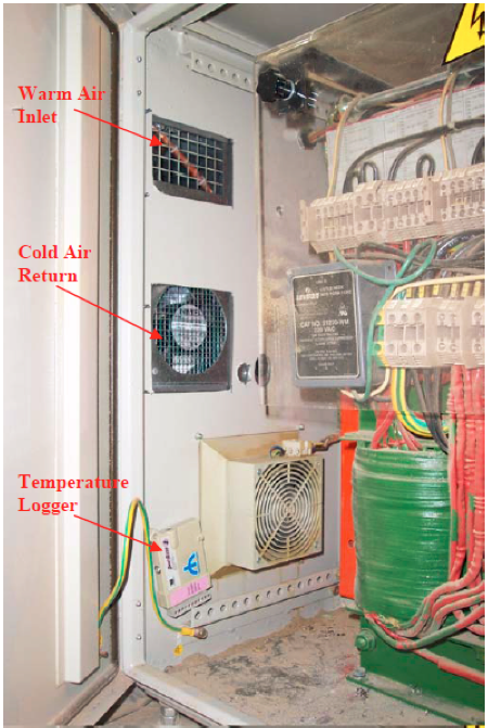 Figure 3: The Refrigerated Coolers Provide Some Isolation From Ambient Dust  And A Good Circulation Flow Inside The Cabinet.