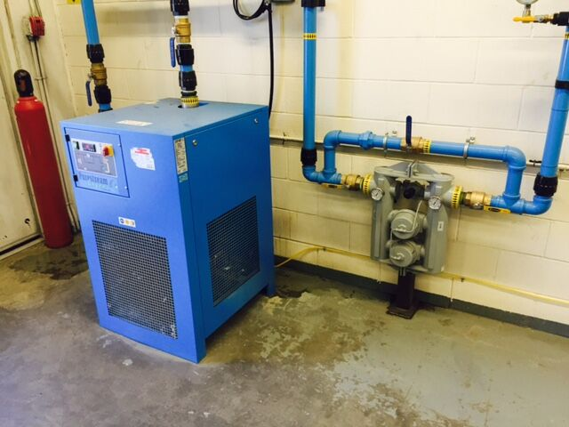 BOGE refrigerated dryer piped in with Transair piping
