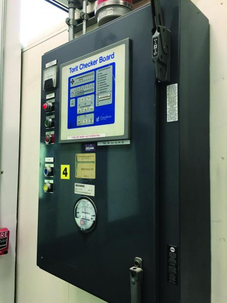 Dust collector control panel