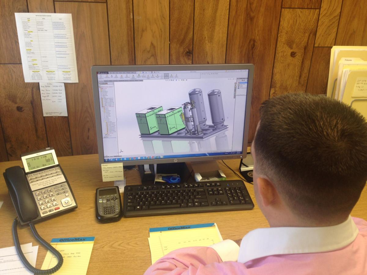 Sullair of Houston has in-house 3D capabilities for drawing customized packages.