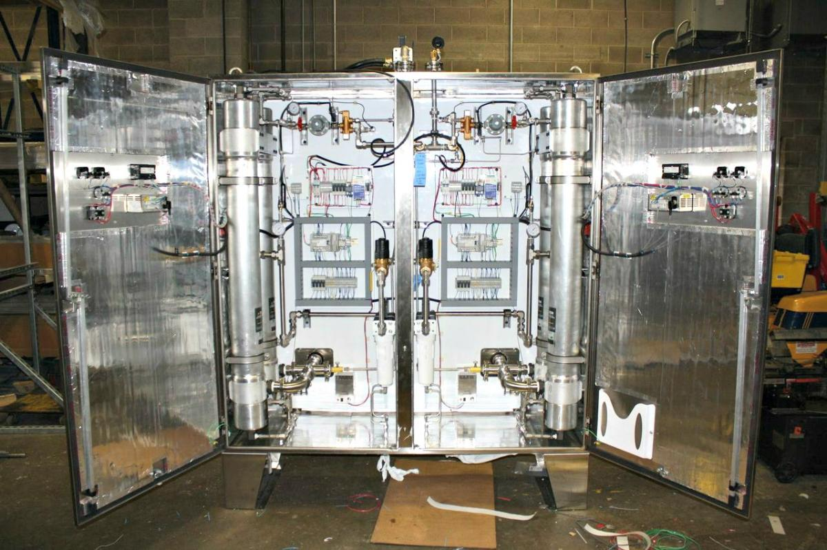 Internal view of the dual nitrogen generation system designed by Titus Air Systems