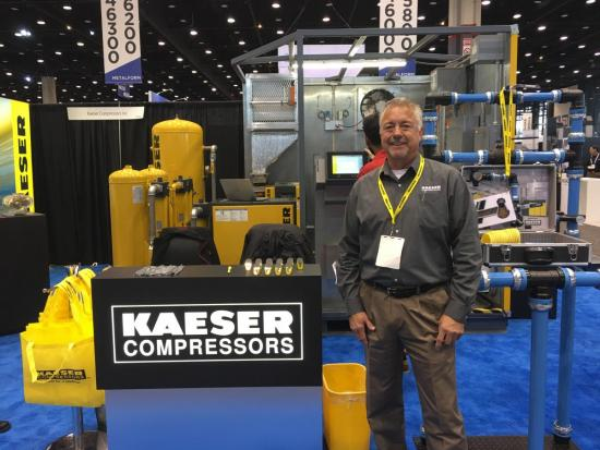 Rob Williams at the Kaeser booth