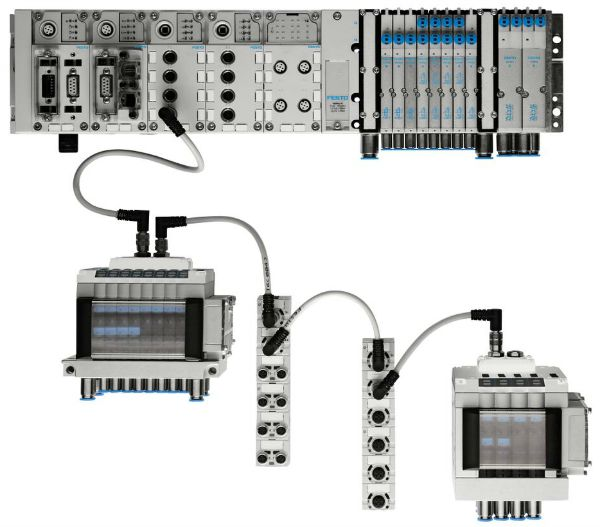 Two modules are added to a Festo CPX controller