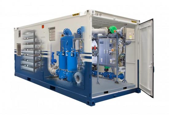 Containerized, high-pressure nitrogen generation system