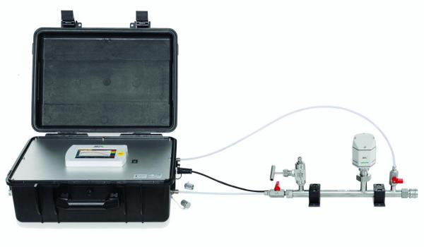 Compressed air quality analyzer