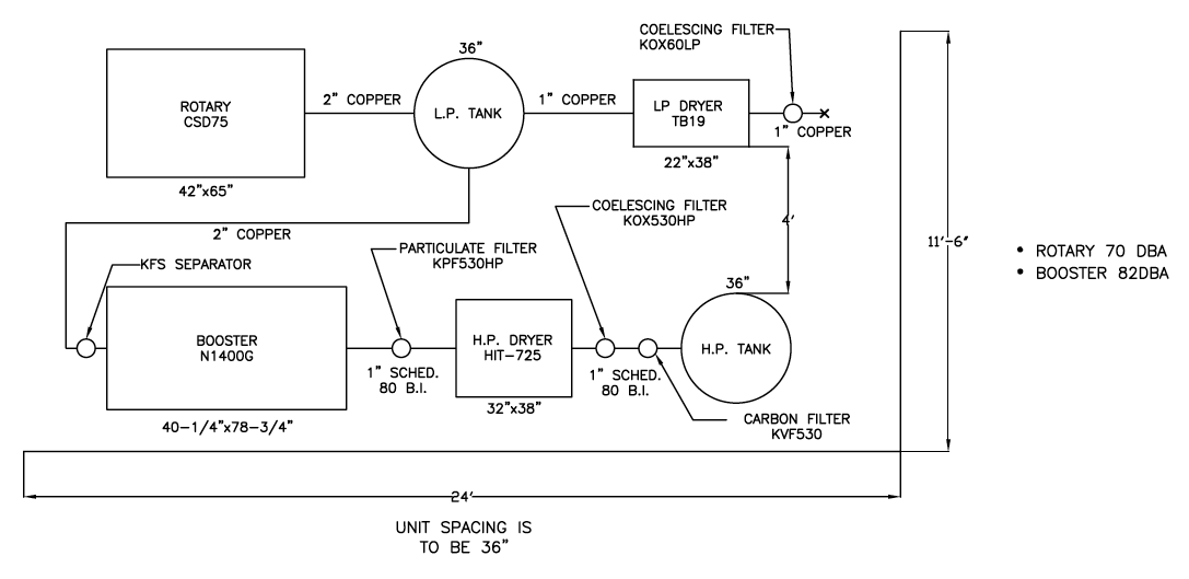 air compressor plumbing diagram