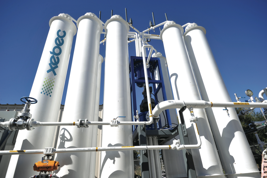 Sempra Energy wastewater treatment plant in California using Xebec's PSA system
