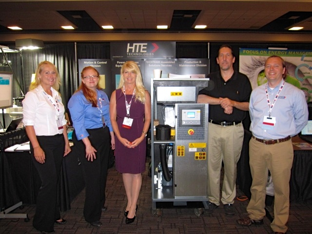 Erin Roehrs, Naomi Marciante, Jennifer Barkalow, Erik Woehrle and Walter Deeken (left to right) from HTE Technologies.