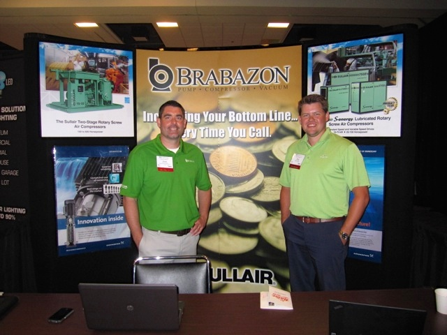 Coglianese from Brabazon and Zach Switalski from Sullair Compressors.